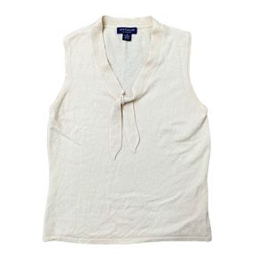 Ann Taylor 100% Cashmere front tied top